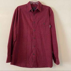 Woolrich Long Sleeve Button Down Shirt M EUC